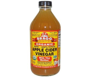 Bragg Organic Apple Cider Vinegar with The Mother (Raw - Unfiltered) - 473ml(USA)
