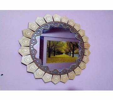 Wooden Made Wall Mirror