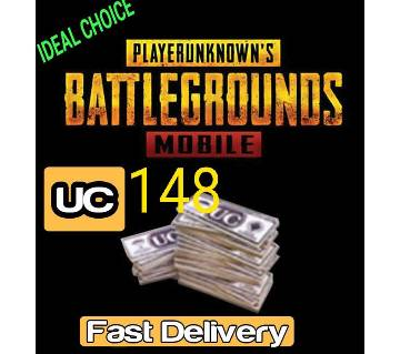 PUBG Mobile 148 Uc (Email delivery )