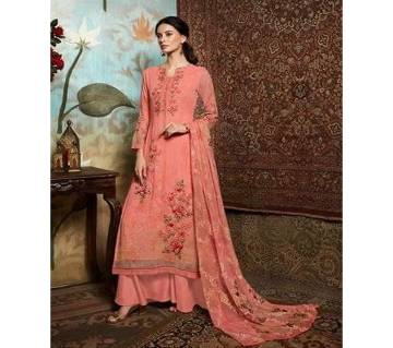 Unstitched Georgette DIGITAL Printed Original Indian Dress 3 piece-11305
