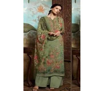 Unstitched Georgette DIGITAL Printed Original Indian Dress 3 piece-11307