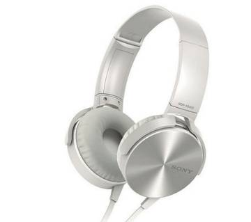 SONY MDR XB-450 Ear Headphones With Extra Bass-White-Copy