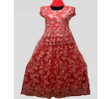 Unstitched Churidar gown for women-3pcs