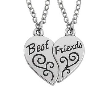 Half Heart Love Best Friends Necklaces