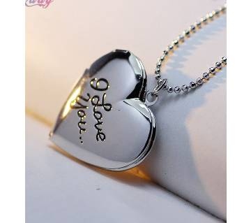 Heart Shaped Silver Color Necklaces