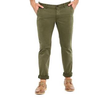 Semi narrow stretchable gabardine pant