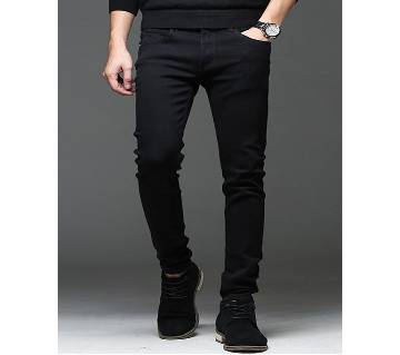 Gents stretchable jeans pant black