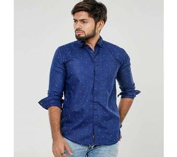 Long Sleeve Printed Casual Shirt