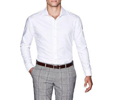 Full sleeve Cotton Formal  Shirt for Men-White