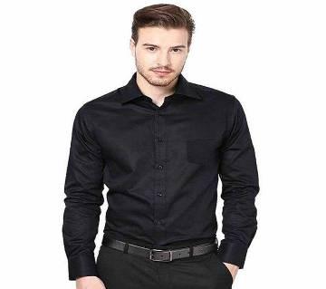 Full sleeve Cotton Formal  Shirt for Men-Black