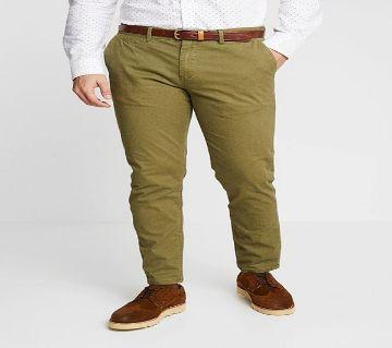Khaki Gabardine Pant For Men