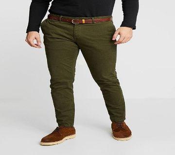 Olive Gabardine Pant For Men