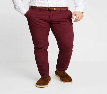 Maroon Gabardine Pant For Men