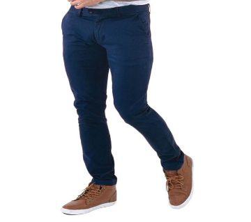 Navy Blue Twill Gabardine Pant for Men