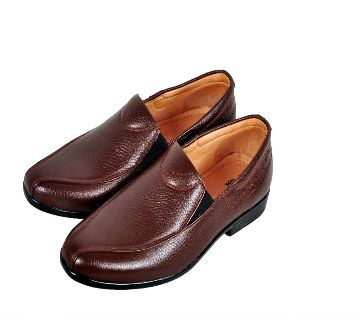 Mens Causal Loafer-Coffee Color