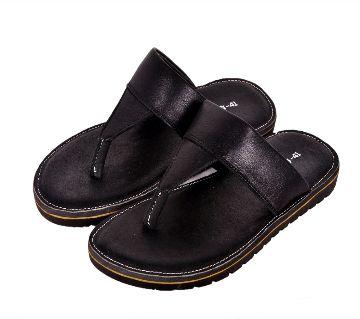Mens Sandal-Black Color