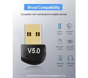 Mini BT 5.0 Adapter USB Dongle Wireless USB Bluetooth Transmitter 5.0 Music Receiver Bluetooth Adapter For Computer PC