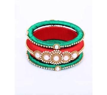 Multi Color Silk Thread Bangle Set