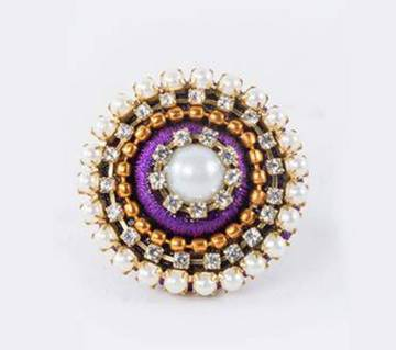 Purple Color Silk Thread Finger Ring