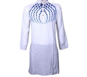 Long Cotton Printed Punjabi For-MEN