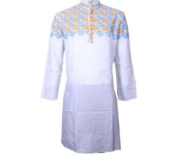 Long Cotton Hand printed punjabi for Men