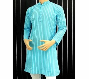 Semi long cotton Punjabi for men- cream