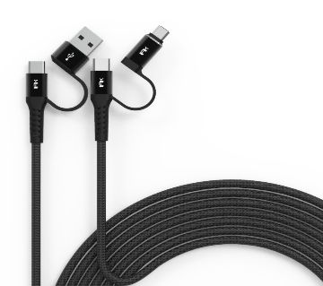 Android Fast Charging USB-C, USB-A and Micro-USB Cable