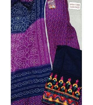 unstitched Sartoon Cotton botics Dress