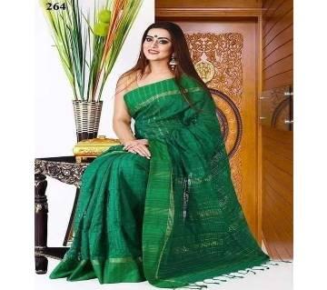 Monipuri Jhum Saree Without Blouse Piece Green