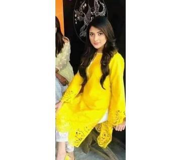 Unstitched Pakistani Laser cut 2pis