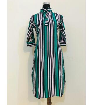 Linen Shirt Style kurti for women