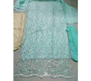 Net Embroidery salwar kameez