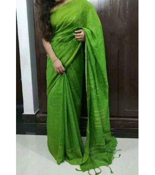 Monipuri Jhum Saree light green