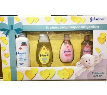 Johsons premium giftset(Lotion, Cream, Shampoo, Oil, Powder) from USA