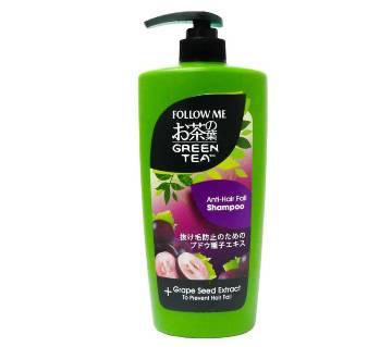 follow me green tea anti-hair fall shampoo and grape seed extract 400 ml-Korea