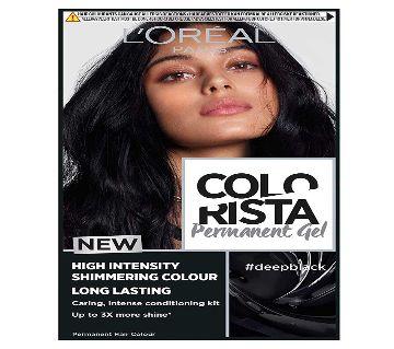 Original LOreal -Colorista Deep Black Permanent  Hair Color-France-8.2 Oz