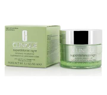 Clinique Superdefense Night Recovery Moisturizer  For Very 50ml-UK