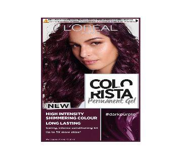 LOral Paris  COLORISTA DARK PURPLE PERMANENT  HAIR DYE GEL- 6.4 Oz-France