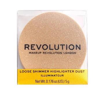 Makeup Revolution-Loose Shimmer Highlighter 5g  Rose Quartz-UK