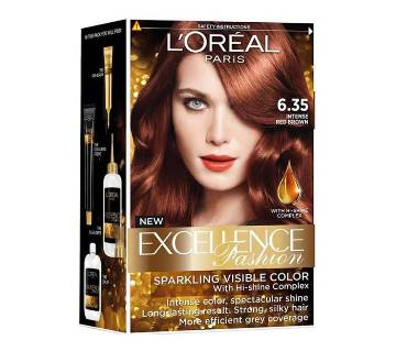 LOreal Paris Hair Color 6.35 Intense Copper Brown-48ml-France