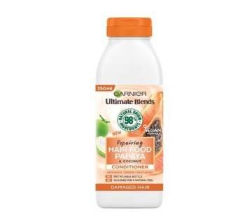 Garnier Ultimate Blends Repairing Hair Food Papaya Conditioner For Damaged Hair-350ml-Italy