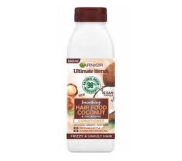 Garnier Ultimate Blends Repairing Hair Food Coconut & Macadamia Conditioner For Frizzy And Unruly Hair-350ml-Italy