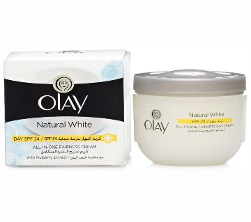 Olay natural white all in one fairness day cream spf 24 50 gm-USA