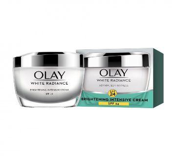 Olay white radiance advanced fairness brightening intensive cream spf 24 50g-USA