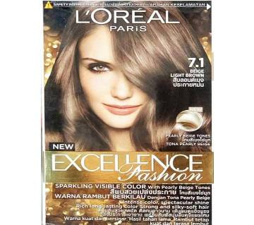 Loreal Paris Hair Color 7.1 Beige Light Brown-322g-France