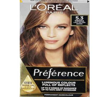 Loreal Paris Hair Color 5.3 Virginia Light Golden Brown-322g-France