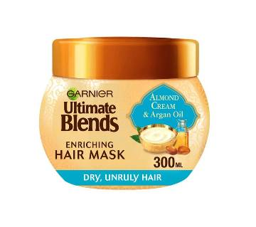 Garnier  Ultimate Blends Argan Oil and Almond Cream Dry Hair Treatment Mask 300 ml-UK