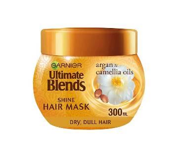 Garnier  Ultimate Blends Argan Oil Shiny Hair Mask Treatment 300ml-UK