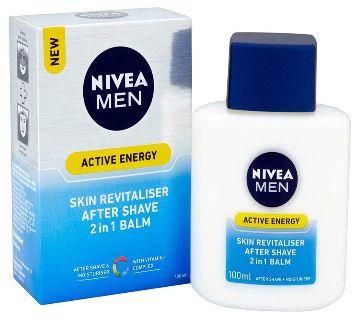 Nivea  Men Active Energy Skin Revitaliser  After Shave- 2 in 1 Balm  (100ml)-Germany