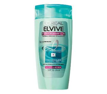 Loreal Paris Elvive Extraordinary Clay Re-Balancing Shampoo-375ml-France